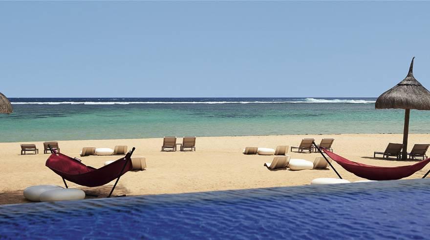 毛里求斯索菲特特色酒店-Pool-beach