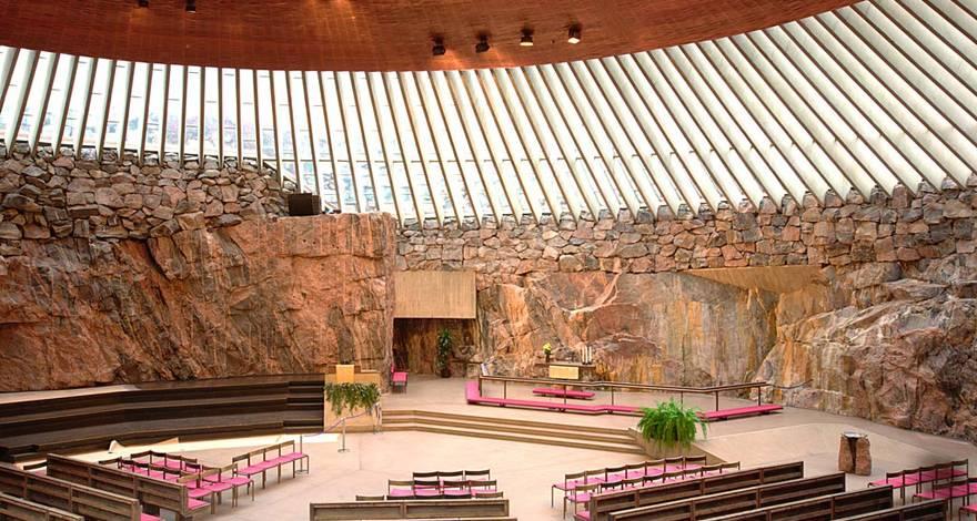 芬兰岩石教堂
