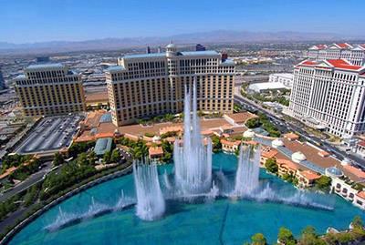 美国西岸游景点_百乐宫大酒店音乐喷泉