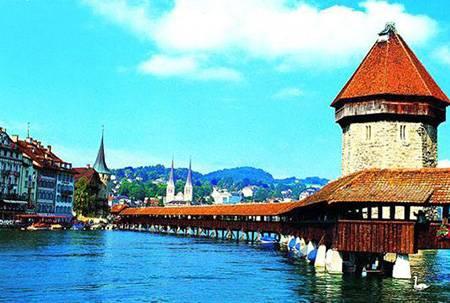 欧洲四国游景点_瑞士卡贝尔桥