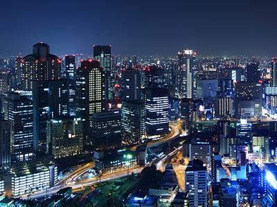 日本6天游:大阪夜景