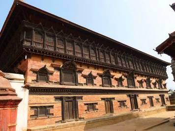 尼泊尔6天游:尼泊尔巴德岗杜巴广场-55扇檀香木