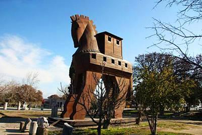 土耳其12天全景游:土耳其特洛伊遗迹-大木马