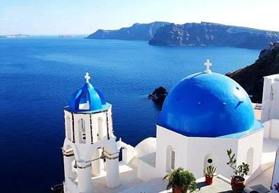 希腊8天游景点:希腊圣托里尼岛