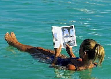 以色列约旦 10天游:以色列死海看书