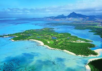 毛里求斯鹿岛俯瞰