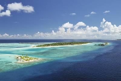 马尔代夫天堂岛全景