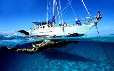Mana度假村出海,潜水