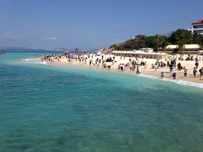 海南蜈支洲岛,西岛,三亚湾,玉带滩,亚龙湾,天涯海角,博鳌水城纯玩线四