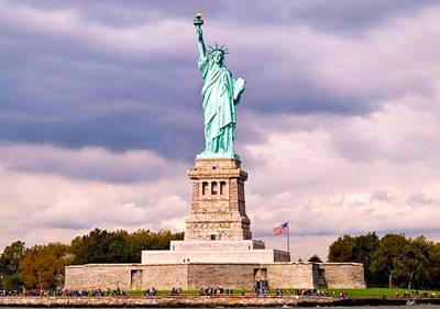 美国东西岸15天_美国自由女神像