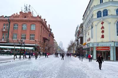 东北7日游:哈尔滨中央大街冬景