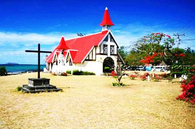 毛里求斯叙利库夫酒店8天游_毛里求斯红顶教堂