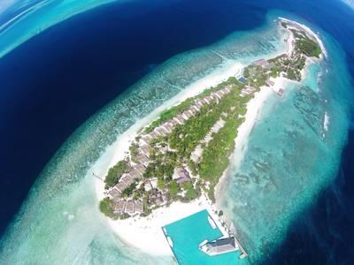 马尔代夫康杜玛岛全景