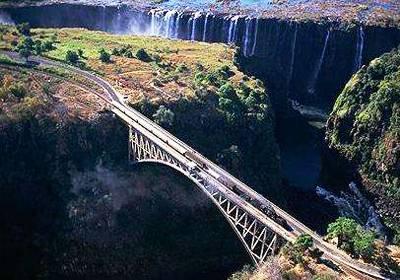 非洲四国14天游_赞比亚瀑布大桥