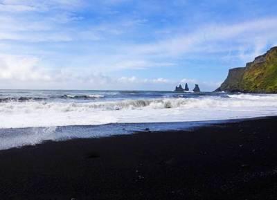 北极旅游景点-冰岛-雷克雅未克-维克-黑沙滩