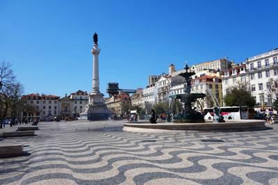 欧洲2国游_欧洲旅游景点:葡萄牙里斯本-罗西奥广场