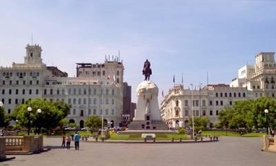 美洲旅游景点_秘鲁利马-圣马丁广场