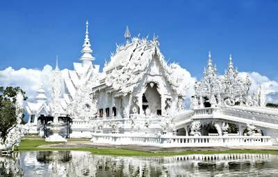 泰国清迈、清莱五天游_泰国清迈白庙