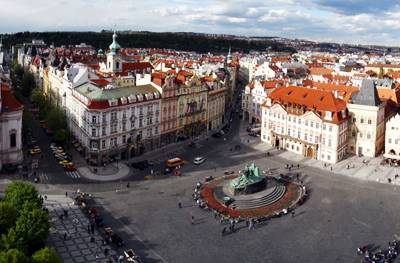 东欧五国波西米亚之旅10天游_捷克布拉格老城广场