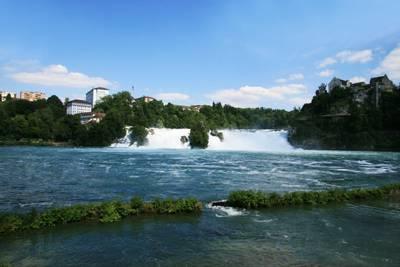 瑞士10天游_瑞士莱茵瀑布