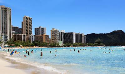 美国夏威夷6天游_美国夏威夷威基基海滩