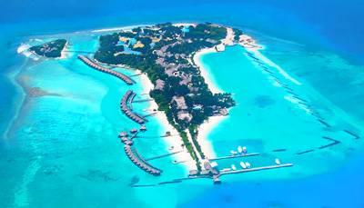 马尔代夫圆月岛全景