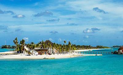 马尔代夫瓦度岛全景