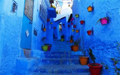 摩洛哥8天游_摩洛哥:蓝色小镇--舍夫沙万