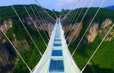 湖南四天游景点_湖南张家界大峡谷玻璃桥