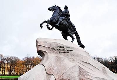 俄罗斯8日游景点_青铜骑士像