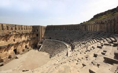 土耳其12天全景游:土耳其-阿斯潘多思圆形剧场
