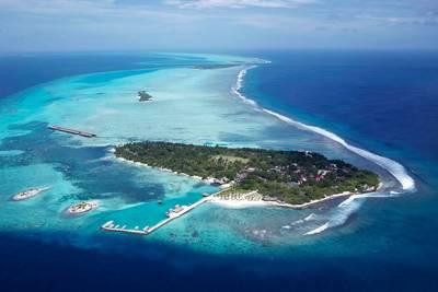 马尔代夫白金岛全景