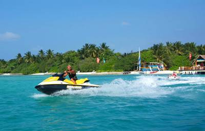 马尔代夫白金岛风光