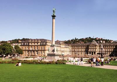 欧洲十国12天游:德国-斯图加特王宫广场