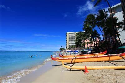 夏威夷威基基海滩