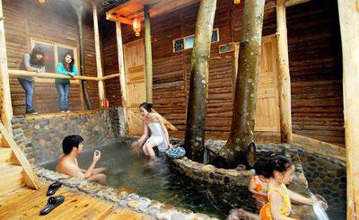 九州驿站享受温泉
