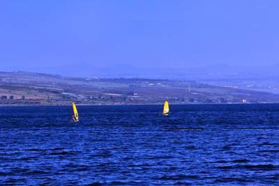 以色列、约旦12天游:以色列加利利湖