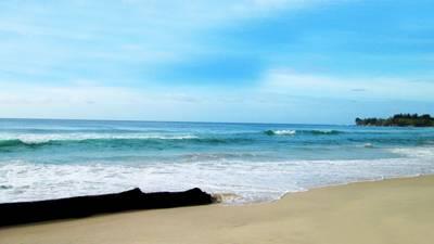 沙巴古达五天游:马来西亚沙巴-古达岛白沙滩