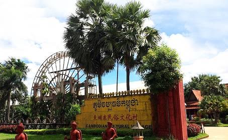 柬埔寨吴哥五天游:大榕树村