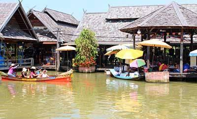 泰国6天游-杜拉拉水上市场