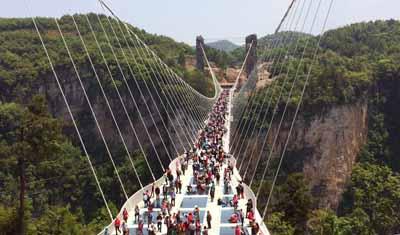湖南五天游景点_湖南张家界大峡谷玻璃桥
