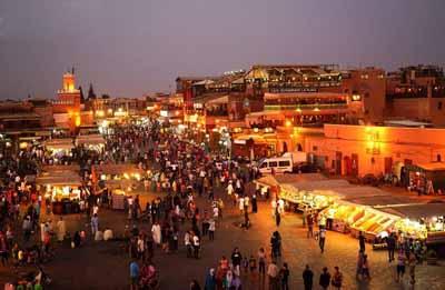 摩洛哥全景12天游_摩洛哥马拉喀什老城