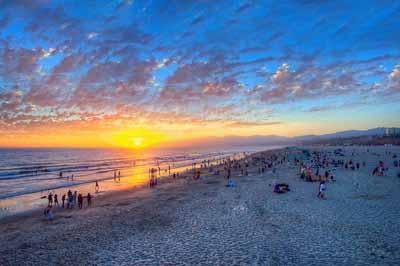 美西雙城+兩大國家公園11天游_美國圣塔莫妮卡海灘