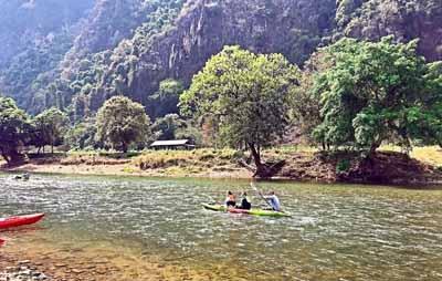老挝六天游:老挝-万荣【南松河】漂流