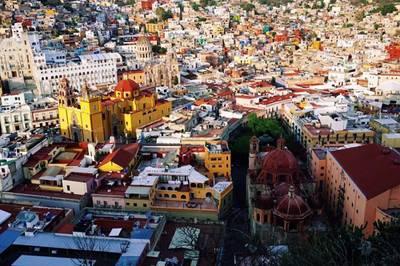 墨西哥10天游:墨西哥皮皮拉山俯瞰瓜纳华托全景