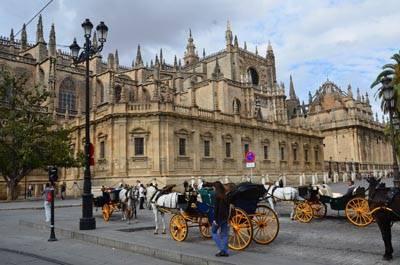 欧洲2国游_欧洲旅游景点:西班牙-塞维利亚大教堂