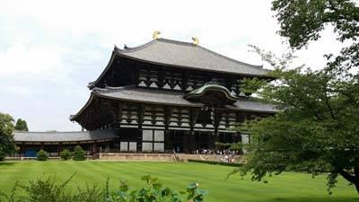 日本7天游景点_日本奈良东大寺公园