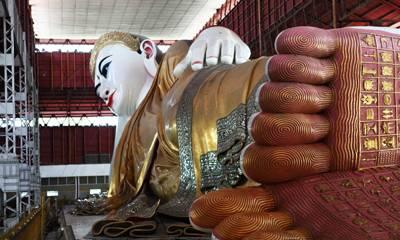 缅甸5天游:缅甸巧塔吉大卧佛