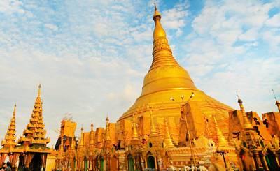 缅甸5天游:缅甸仰光大金塔