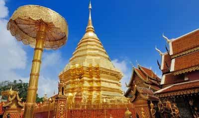 泰国清迈、清莱五天游_泰国清迈双龙寺